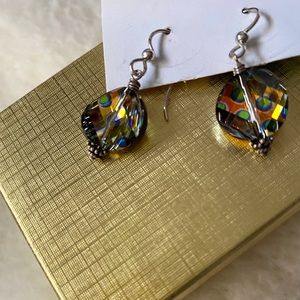 Handcrafted One of a Kind Dangling Earrings NIB